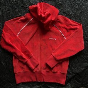 Adidas Red Fleece Hoodie